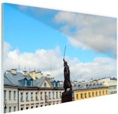 Standbeeld Warschau Glas 120x80 cm - Foto print op Glas (Plexiglas wanddecoratie)