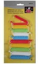 Gekleurde vershoudclips / vershoudknijpers - 10 stuks - zakklemmen