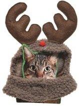 Rendier kostuum voor katten/poezen - Kerstkleding voor huisdieren