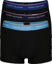 Tommy Hilfiger boxershorts (3-pack) - zwart met gekleurde band -  Maat XL