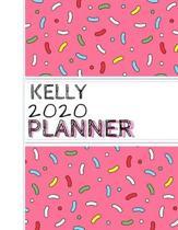 Kelly: : 2020 Personalized Planner: One page per week: Pink sprinkle design
