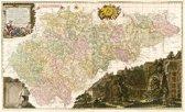 Historische Karte: Erzgebirgischer Kreis - Carte von Ertzgebürgischen Creysse in Churfurstenthum Sachssen mit allen derinnen befindlichen Aembtern und Herrschafften 1760 (Plano)