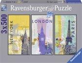 Ravensburger Steden (3 x 500)