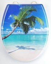 EISL WC-Bril ED69CARIBBEAN - Thermoplastiek - Soft Close - Afklikbaar - RVS-Scharnieren - Decor -3-zijdige Print - Caribbean