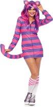 Cozy Cheshire Cat kostuum - S - Roze, Paars - Leg Avenue
