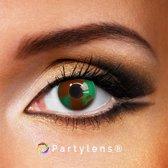 Partylenzen - Camouflage - jaarlenzen inclusief lenzendoosje - kleurlenzen Partylens®
