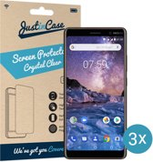 Just in Case Screen Protector Nokia 7 Plus - Crystal Clear - 3 stuks