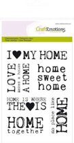 Clear stempel CE, I love my home 1130