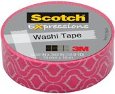 Scotch Expressions tape 15 mm x 10 m roze craquelǸ