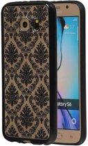 Samsung Galaxy S6 Hoesje TPU Paleis 3D Backcover Zwart