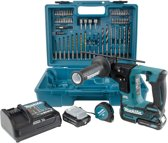 Makita HR166DSAE1 10.8V Li-Ion Accu SDS-plus boorhamer set (2x 2,0Ah accu) in koffer - 1,1J