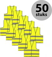 Veiligheidshesje - Veiligheidsvest - Kind - Geel - 50 stuks