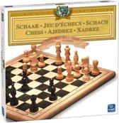 Schaken Hout - King Spellen Schaakspel - Schaakbord met Houten Schaakstukken