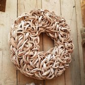 Coco Slice Wreath krans White Wash 55 cm