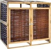 vidaXL Containerberging dubbel grenenhout en riet