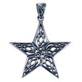 Zilveren Ster met Keltische knoop ketting hanger