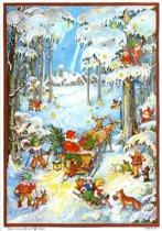 Adventskalender 45 Dwergen in sneeuw