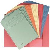 5x Class'ex dossiermap, 23,7x34,7cm (voor folio), geassorteerde kleuren, pak a 25 stuks