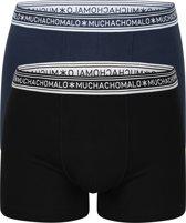 Muchachomalo boxershorts Bamboo - 2-pack - zwart en blauw -  Maat S