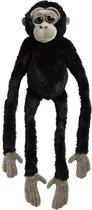 Pluche zwarte gorilla aap knuffel 100 cm - Apen bosdieren knuffels - Speelgoed voor kinderen