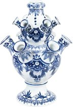 Tulpenvaas | 31 cm hoog | Delfts blauwe vaas | Tulpen vaas Relatiegeschenk | Design vaas | Bloemenvaas | &Klevering | Hollandse souvenirs