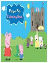 Peppa Pig Coloring Book: peppa pig coloring book for toddlers