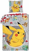 Pokémon Catch - Dekbedovertrek - Eenpersoons - 140 x 200 cm - Multi