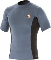 Prolimit - Zwemshirt voor heren met korte mouwen - Grijs / zwart