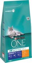 Purina ONE Senior - Kip/Volkoren Granen - Kattenvoer - 3x 1,5 kg