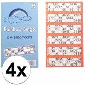 4x Bingokaarten 1-90