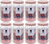 8x Inmaakpotten/weckpotten 2000 ml met draaideksel - Bewaarpotten