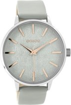 OOZOO Timepieces C9495 Metaal Mesh Steengrijs Rosé 42mm