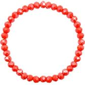 Facet armbandje Coral Red 6x4