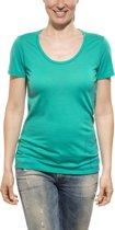 Icebreaker Tech Lite SS Scoop Entwined - dames - T-shirt - Maat XL - Petrol