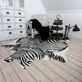 Namaak huid zebra zwart/wit gestreept XL