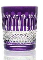 Kristallen whiskeyglazen  - Whiskyglas CHRISTINE - violet - set van 2 glazen - gekleurd kristal
