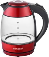 Concept RK4053 waterkoker 1,8 l Rood, Transparant 2200 W