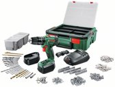 Bosch PSB 1800 LI-2 Accuboormachine - 18 V - met 241-delige stapelbare toolbox - incl. klopfunctie