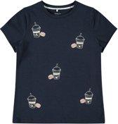 Name it Meisjes T-shirt - Dark Sapphire - Maat 116