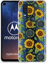 Motorola One Vision Hoesje Sunflowers