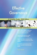 Effective Governance A Complete Guide - 2020 Edition