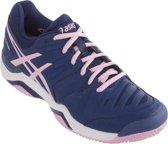 Asics Gel-Challenger 10 Clay Tennisschoenen - Maat 37.5 - Vrouwen - blauw/roze/wit
