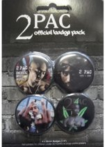 2-PAC Buttons - Official Badge Pack