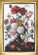 785L Borduurpakket Rijksmuseum Stilleven met bloemen in een glazen vaas, Jan Davidsz. de Heem, 1650 - 1683 Thea Gouverneur