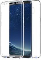 Shockproof 360° Samsung S9 Plus G965 Siliconen Ultra Dun Gel TPU Hoesje Full Cover / Case - Transparant. Voor en achterbescherming