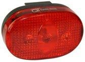 Cycle Tech Achterlicht Batterij 3-led Zwart/rood