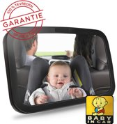 Baby auto spiegel - Hoofdsteun spiegel - Splintervrij - XL - Verstelbare spiegel - Autospiegel baby - Achterbank spiegel