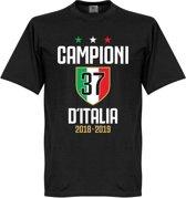Campioni D'Italia 37 T-Shirt - Zwart - S