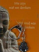Boeddha sleutelhanger Hematiet