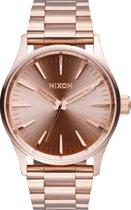 Nixon A450897 Sentry 38 SS all rose gold - Horloge - 38mm - Rosé